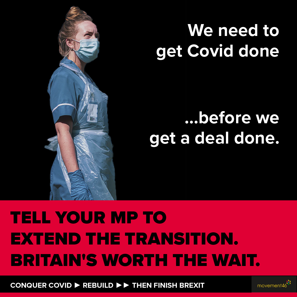 Get Covid Done ...before we Get a deal done.